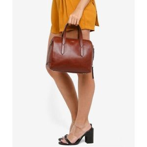 Fossil Brown Leather Satchel
